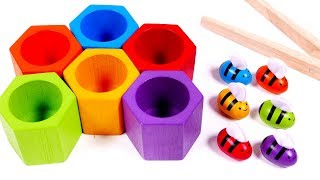 Learn Colors with Beehive Toy Playset for Kids | Learning with Yippee Toys