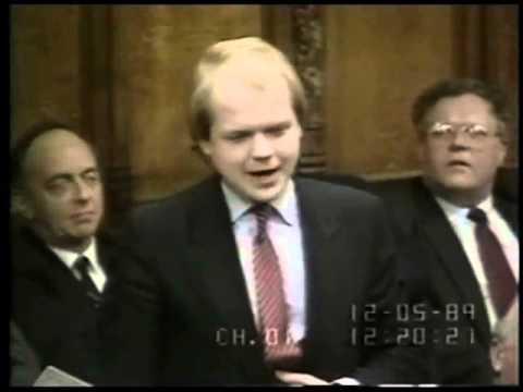Young William Hague AT PMQs