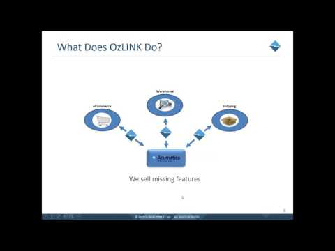 OzLINK Advanced Shipping for Acumatica Webinar