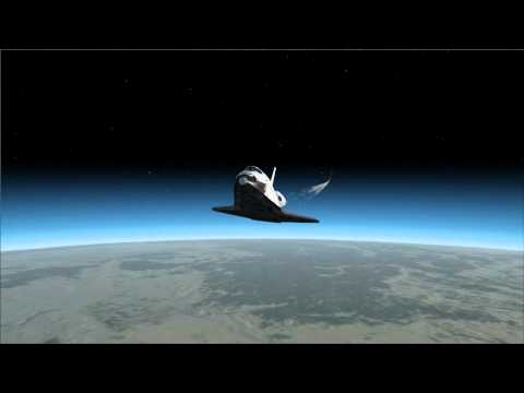 FSX Space Shuttle Atlantis flight
