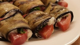 Языки из баклажанов / How to make Grilled eggplant roll-ups ♡ English subtitles