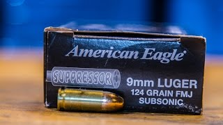 American Eagle 124 gr 9mm suppressor ammo review