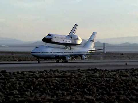 STS-117 Piggyback Takeoff of Space Shuttle Atlantis and 747 from Edwards AFB, California