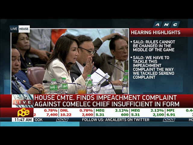 House panel junks impeach raps vs Comelec chief Bautista