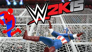Spiderman vs Captain America - Death Battle - WWE 2K15