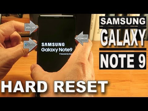 Samsung Galaxy Note 9 Hard Reset (Factory Reset)