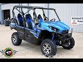$16,999: 2018 Kawasaki Teryx4 LE Candy Plasma Blue Overview and Review