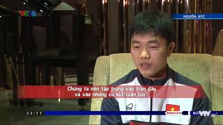 Xuân Trường bắn tiếng Anh như gió trả lời phỏng vấn U23 VN  thắng U23 Qatar