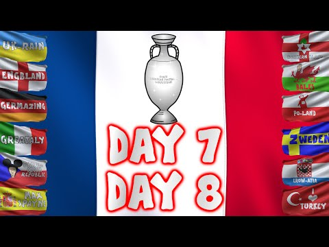 Day 7 and Day 8! EURO 2016! (Spain vs Turkey 3-0)(Czech Republic vs Croatia 2-2)