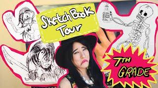 Sketchbook Flip-Through | 7th Grade (2004) | Emily Artful