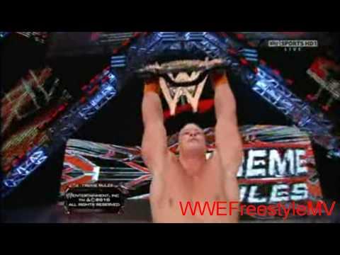 John Cena vs. Batista - Extreme Rules 2010 - Last Man Standing Match Highlights *HD*