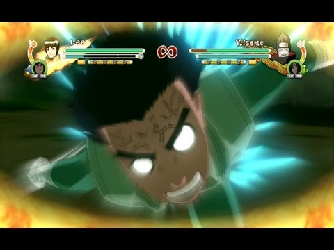 Naruto Ultimate Ninja Storm 3 Rock Lee Complete Moveset with Command List