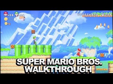 New Super Mario Bros. U Walkthrough - Flying Squirrel Luigi - Comic-Con 2012
