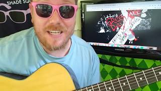 Green Day - Father Of All... // easy guitar lesson tabs easy chords beginner tutorial strumming