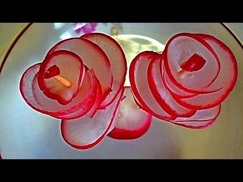 Как сделать цветок из редиски пошаговое