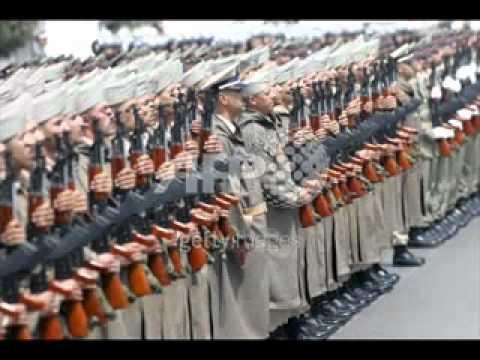 النشيد الوطني للمغرب مع التدريب العسكري
