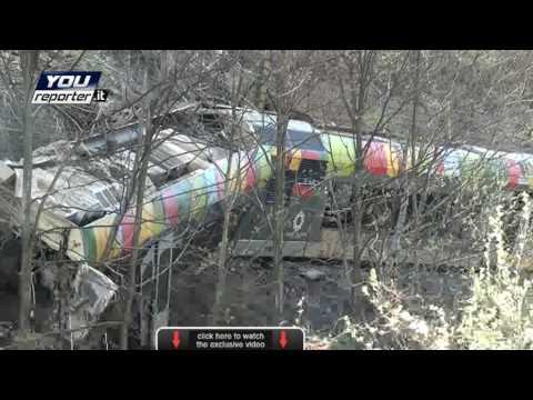 Nine killed as landslide derails Italian train: exclusive video