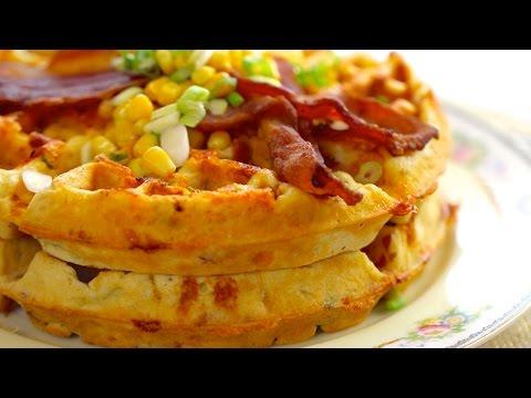 Bacon & Cheddar Cornmeal Waffles - Szalonnás cheddar sajtos gofri