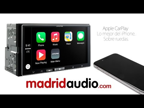 iPhone CarPlay unboxing y review Alpine ILX-700 en Español.
