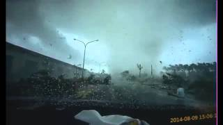 Tornado Caught on Dashcam in Taiwan