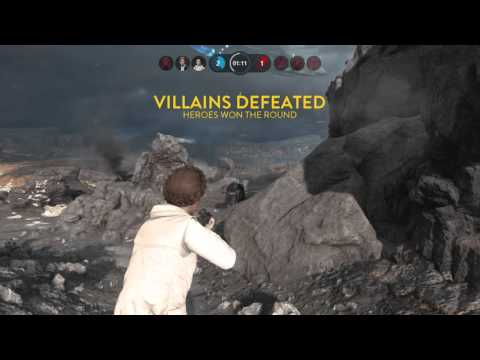 Star Wars Battlefront Heros vs Villians Best Republic Defence!