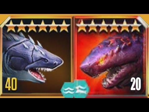 MEGALODON BOSS COLOSSUS 04 Vs MEGALODONS - Jurassic World The Game