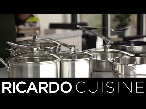 Batterie de cuisine en acier inoxydable 3 plis youtube - Batterie de cuisine en acier inoxydable ...