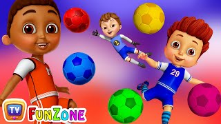 Learn Colors with Football - Kids Play with Colorful Football/Soccer Balls | ChuChu TV Funzone Games