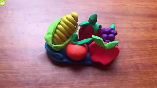 Đồ chơi đất sét Play Doh - Nặn hoa quả bằng đất sét | Mẹ thông thái