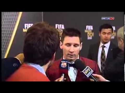 Leo Messi: Congratulations to Cristiano Ronaldo - FIFA Ballon d'Or 2014 HD