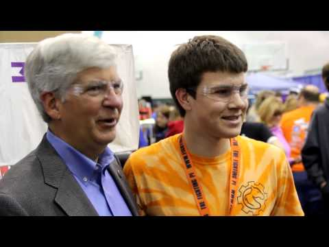 Governor Rick Snyder Visits FIRST Robotics Competition