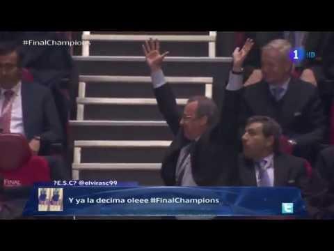 Extasis de FLORENTINO PEREZ con AZNAR - Final CHAMPIONS : REAL MADRID 4-1 ATLETICO