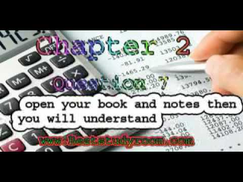 chapter no 2 financial statement the bases for planning and control question no 7