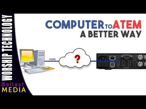 Correct Way to Connect a Computer to an ATEM Switcher