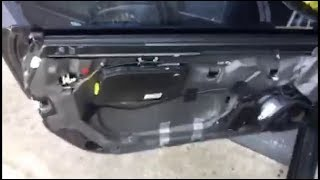 Mercedes SL500 R230 driver door panel and window regulator removal