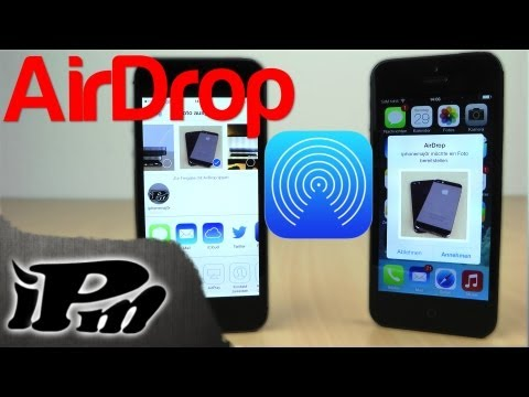 Neu in iOS 7 - AirDrop Schnell Dateien verschicken [Deutsch/German]
