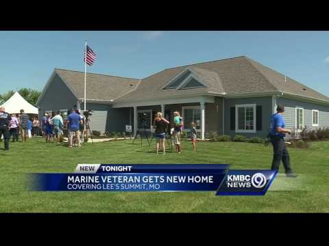 Wounded Marine veteran gets new home