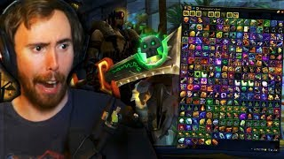 Asmongold Shows ALL THE RARE BANK ITEMS Gathered Over 10+ YEARS