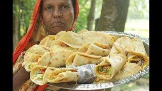 Easy snack Egg rolls recipe is prepared in my village