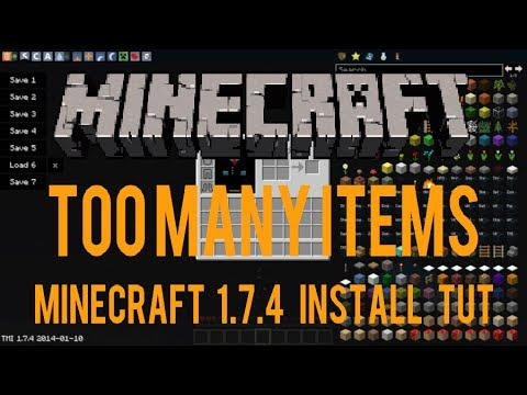 How to install TooManyItems Mod | 1.7.4 | Fast and Easy