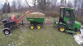 John Deere X748 - 17P Tandem Dump Cart with Walking Beam & DR Chipper - 20171113