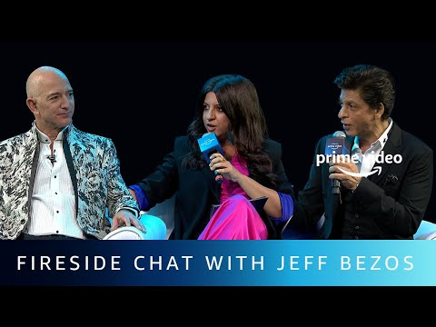 Fireside Chat with Jeff Bezos  Shah Rukh Khan, Zoya Akhtar  Amazon Prime Video