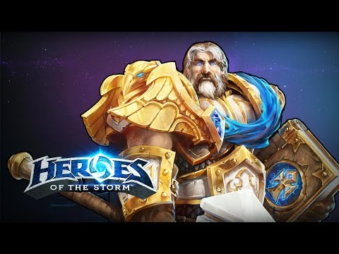 ♥ Heroes of the Storm (Gameplay) - New Melee Uther Build (HoTs Quick Match)