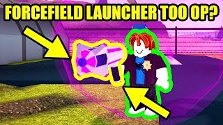 HOW OP is the NEW FORCEFIELD LAUNCHER???  Roblox Jailbreak New Update
