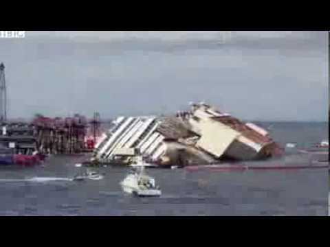 Time lapse of Costa Concordia salvage operation