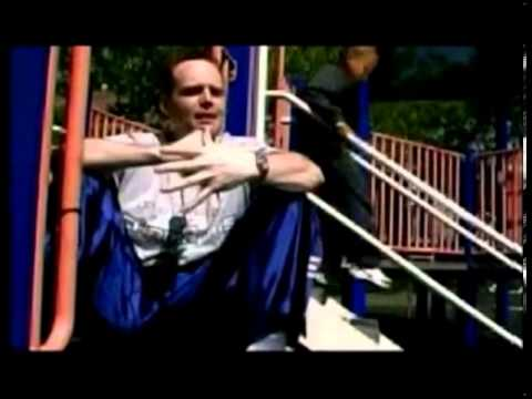 Young Bill Burr doing stand up in a playground