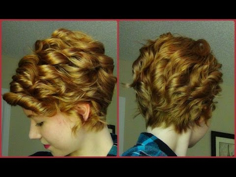 How To Curl A Pixie Haircut! Straightener Technique ♥