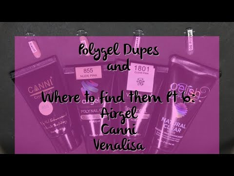 Polygel dupes and where to find them Pt 6: Airgel, Canni, and Venalisa comparison