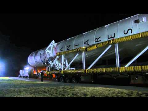 Commercial Rocket Makes Trek to Launchpad