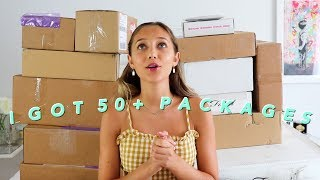 ALL THE PR PACKAGES I GOT WHEN I WAS AWAY (pr unboxing haul + giveaway)